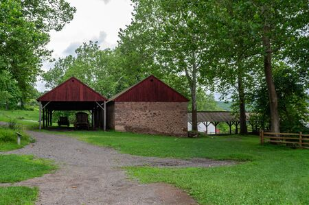 Some Buildings at the  Hopewell Iron Furnace.