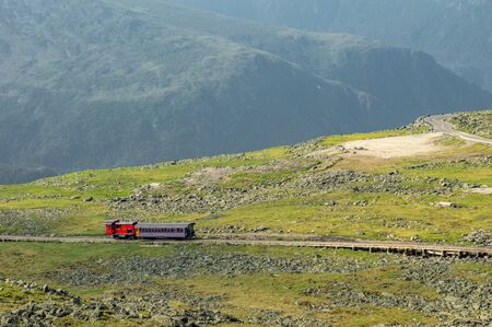 The cog railway on Mount Washington in New Hampshire.