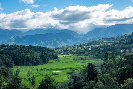 The beautiful green valleys of the Himalayan Foothills.