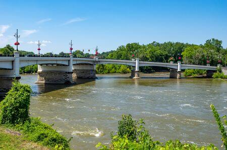 The Y shaped bridge in Zanesville, Ohio.