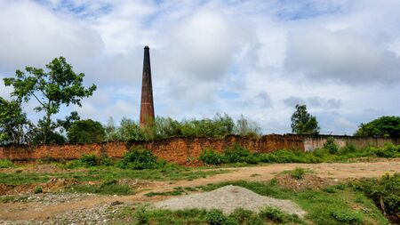 An Old Ruined Brick Factory in India.