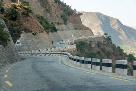 The Banepa Bardibas Highway or BP Highway in the Himalaya foothills of Nepal.