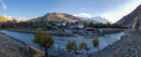 A view of the small town of Kagbeni, Nepal in the Mustang Region of Nepal.