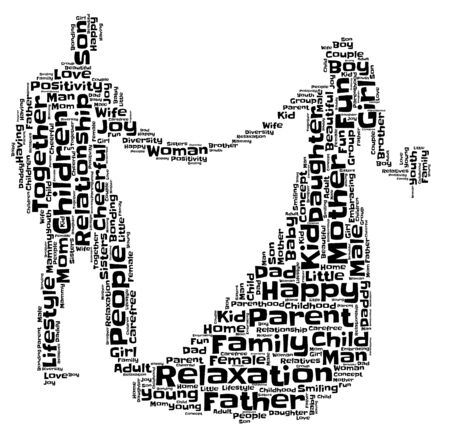 A wordcloud poster with words about the family.
