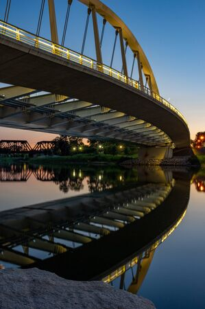 Columbus, Ohio - August 2, 2019: The Main street bridge in Columbus, Ohio on August 2, 2019. Stock Photo