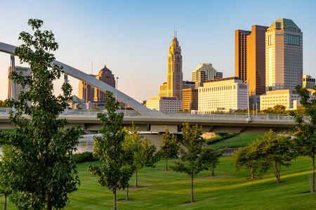 Columbus, Ohio - August 2, 2019:  The cityscape of Columbus, Ohio on August 2, 2019. Stock Photo