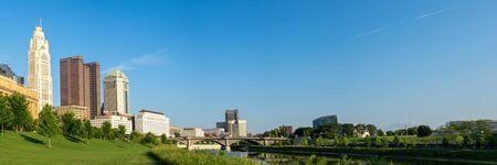 Columbus, Ohio - August 3, 2019: The skyline of Columbus, Ohio on August 3, 2019.