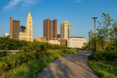 Columbus, Ohio - August 3, 2019: The skyline of Columbus, Ohio on August 3, 2019.