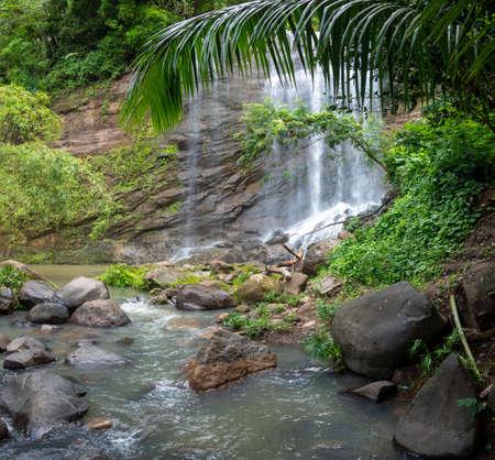A beautiful waterfalls in the tropical jungles of Grenada.