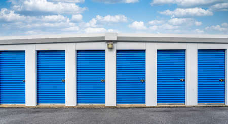 A business of storage unit rentals for rent.