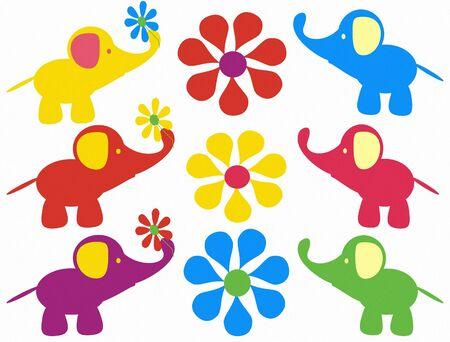 vicces elefánt Stock fotó