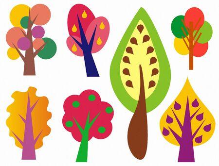 illustration of tree Stock Photo