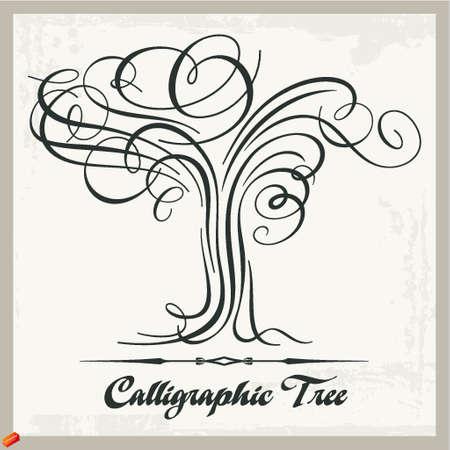 calligraphic tree Stock Vector - 18968429