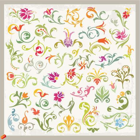 floral ornaments Illustration