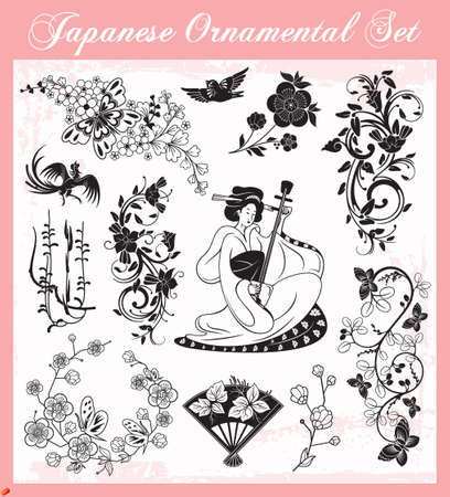 Japanese Ornaments Vector