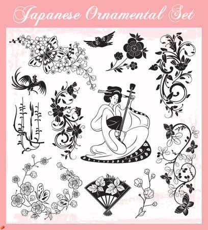 Ornements japonais Banque d'images - 19178058