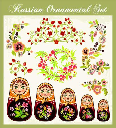 russian nested dolls: Russian Ornament