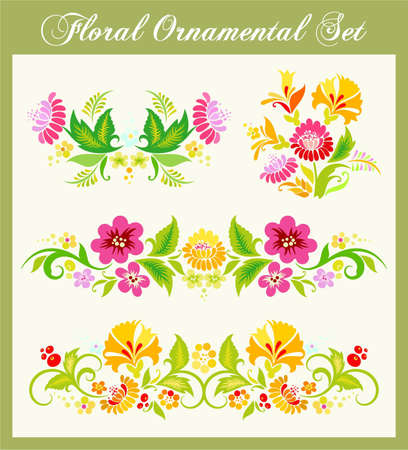 ornamental background: Russian Ornament