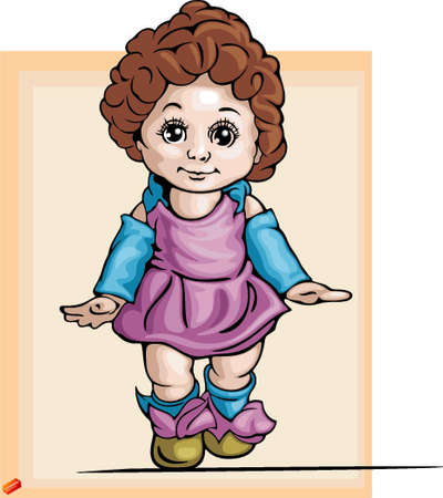 sweet baby girl: Baby Clipart Illustration