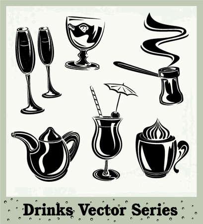 black beer: Drinks Illustration