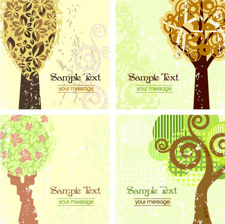 Tree Backgrounds  Stock Vector - 19178167