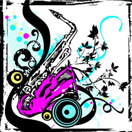 stringed instrument: Musical Background Illustration