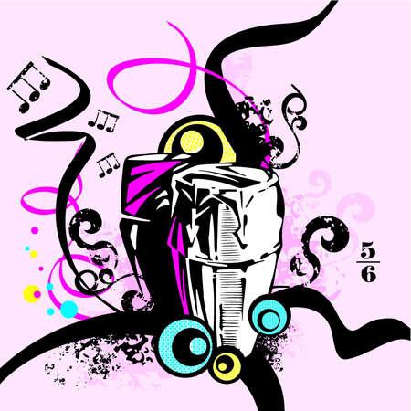 Musical Background Ilustração