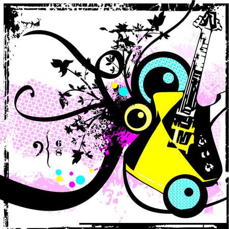 Musical Background Illustration