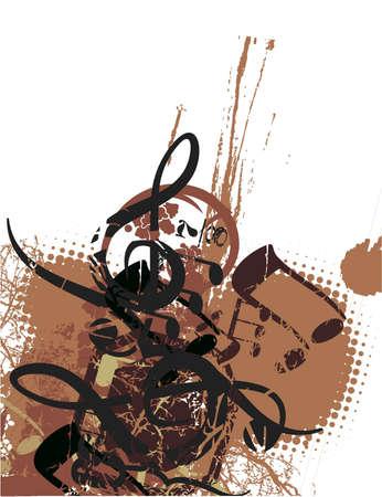 Grunge background musical Banque d'images - 19241888