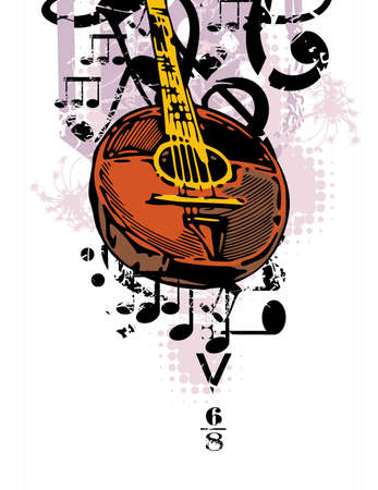 Grunge Musical Background Illustration
