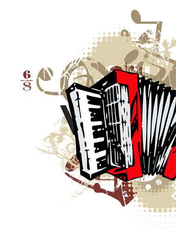 Grunge background musical Banque d'images - 19241919
