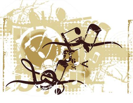 Grunge Muzikale Achtergrond