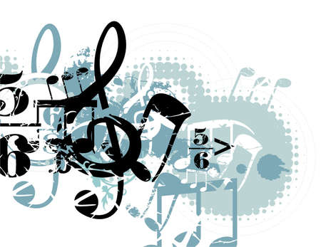 Grunge Musical Background Ilustração