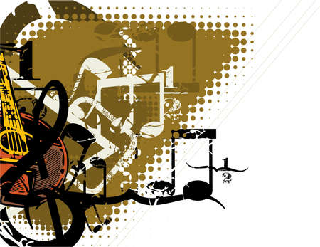 grunge: Grunge Musical Background Illustration