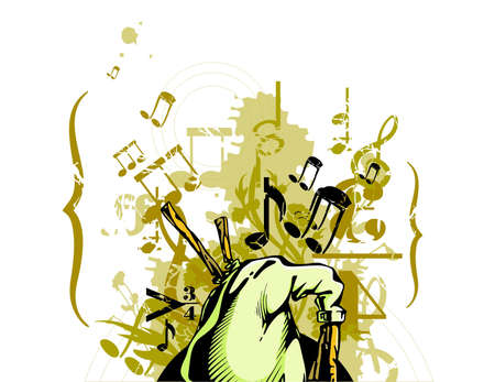 Grunge Musical Background Imagens - 19241842