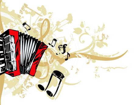 Grunge background musical Banque d'images - 19241871