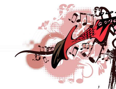 Grunge background musical Banque d'images - 19241904