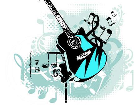 Grunge background musical Banque d'images - 19241908