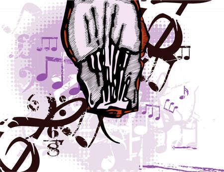 Grunge background musical Banque d'images - 19241907