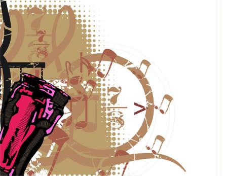 グランジ音楽的背景  イラスト・ベクター素材