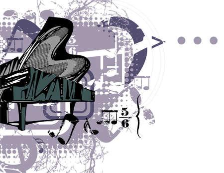 Grunge Musical Background Illustration
