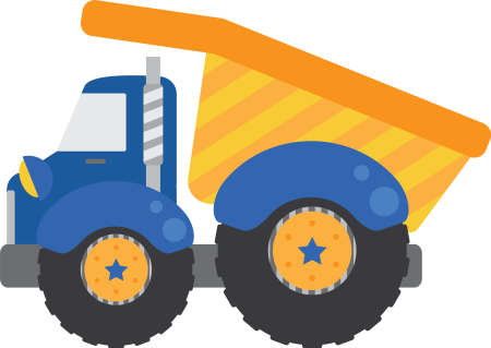 Blauw Dump Truck Stock Illustratie