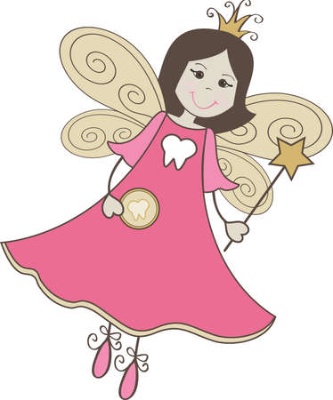 Tooth Fairy Stick Figure Vector