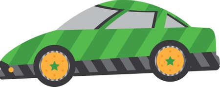 racecar: Whimsical Green Racecar