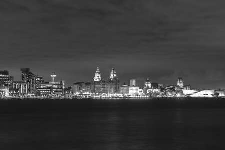 Liverpool at night taken from the Wirral. Both Cathedrals and the Three Graces can all be seen from the view.