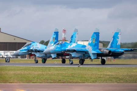 Su-27`s awaiting take off