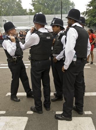 coppers: British police gathering at Notting Hill Carnival August 25th, 2008 in Notting Hill, London Editorial