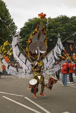 costum: Elaborate costum parades along the streets at Notting Hill Carnival Editorial