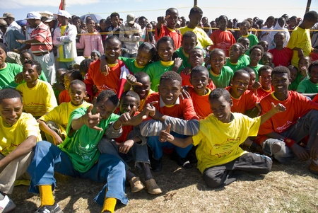 Young Ethiopian performers celebrating the 20th World Aids Day Event in Fitche, Ethiopia Editoriali