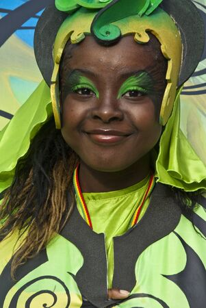 Dancer from the Mahogany Celebrate the World float at the Notting Hill Carnival on August 30, 2010 in Notting Hill, London.  Stock Photo - 12591852
